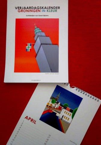 """NIEUW: Verjaardagskalender """"Groningen in kleur"""""""