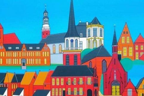 Stadsgezichten in Museum Stad Appingedam